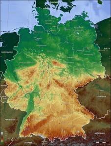 نقشهٔ توپوگرافی آلمان.