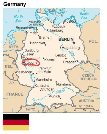 نقشه آلمان - کلن