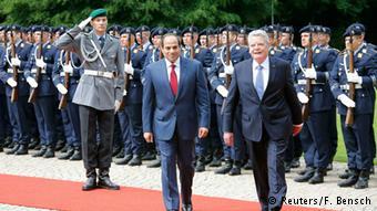 استقبال رسمی رئیس جمهوری آلمان از عبدالفتاح سیسی، رئیس جمهوری مصر