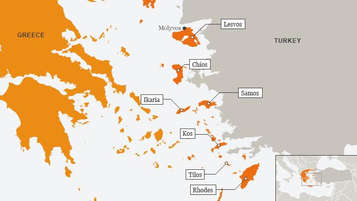 وضعیت اسفبار پناهجویان در جزایر تفریحی یونان 2