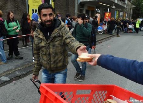 استقبال از پناهجویان در شهر مونیخ آلمان