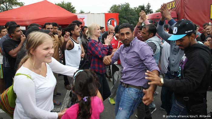 جشن خوشآمدگویی به پناهجویان
