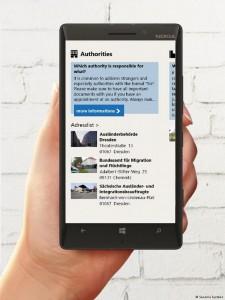 یکی از اپلیکیشنهای ویژه برای کمک به پناهجویان در آلمان