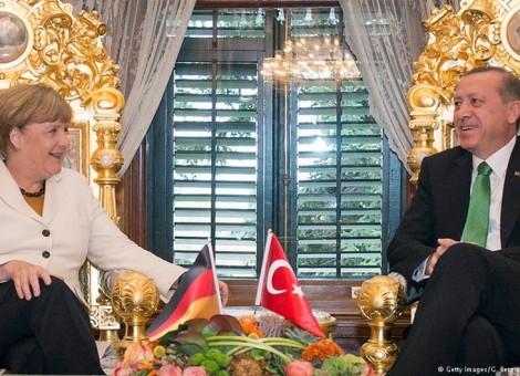 صدراعظم آلمان در اقامتگاه مجلل رئیس جمهور ترکیه در بسفر