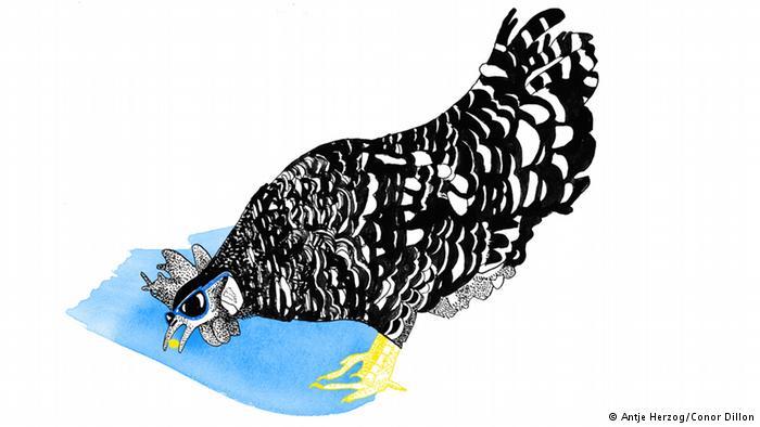 حتی یک مرغ کور هم دانهای مییابد (Auch ein blindes Huhn findet mal ein Korn)