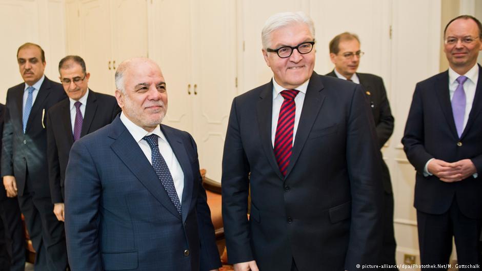 فرانک والتر اشتاین مایر، وزیر امور خارجه آلمان با حیدر عبادی، نخست وزیر عراق دیدار و گفتوگو کرد