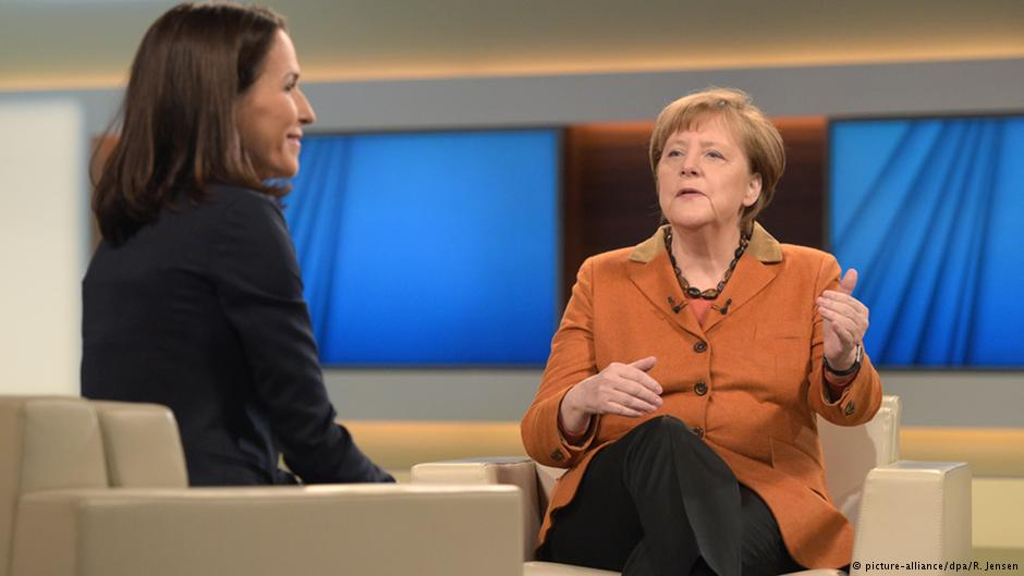 آنگلا مرکل در گفتوگو با آنه ویل، مجری تلویزیون آلمان