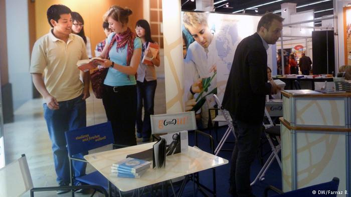 موسسه آلمانی اطلاع رسانی به دانشجویان و دانشپژوهان (DAAD) با شرکت در این نمایشگاه به بازدیدکنندگان اطلاعات مفیدی در باره فعالیتهای این نهاد به همراه کاتالوگ میداد.