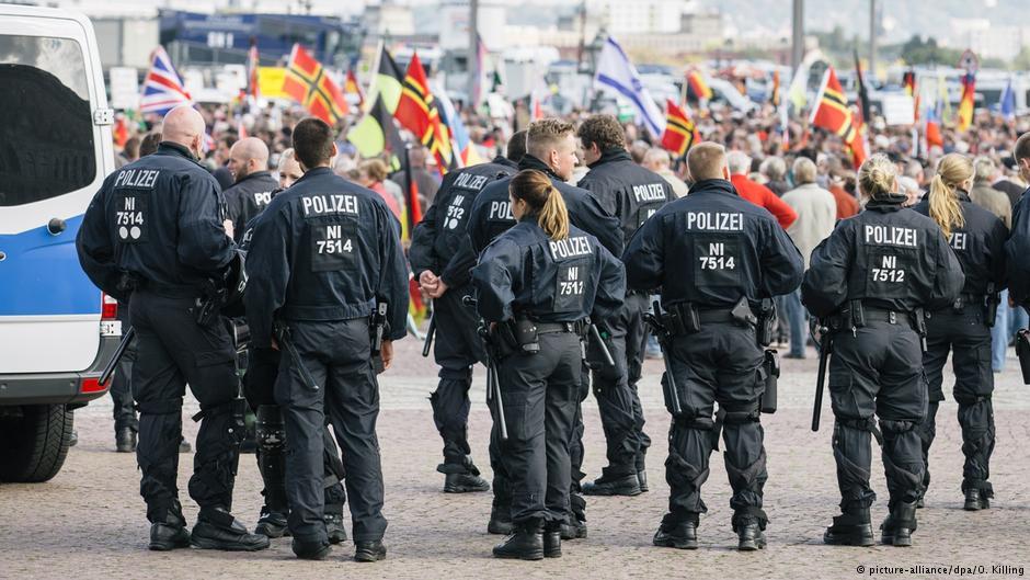 تظاهرات در درسدن آلمان